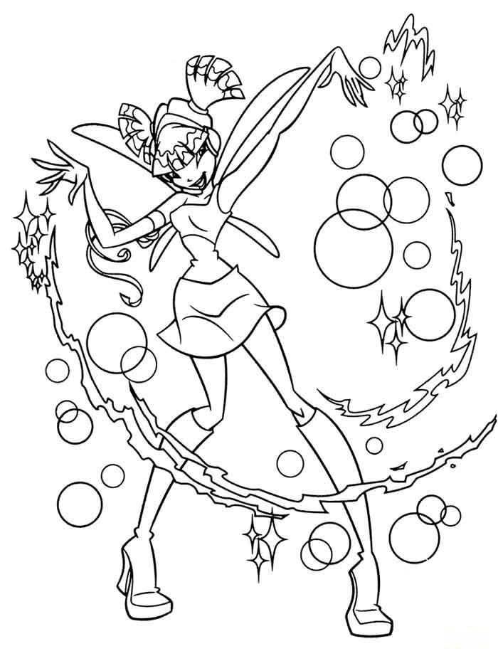 kids under 7 winx club coloring pages coloring home
