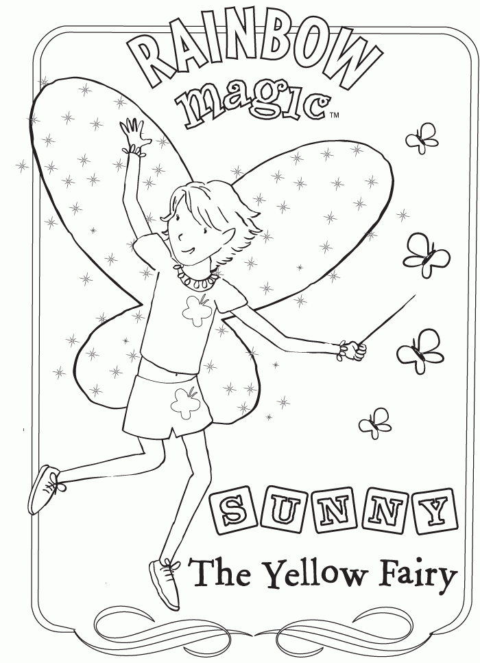 rainbow fairy coloring pages - photo#2