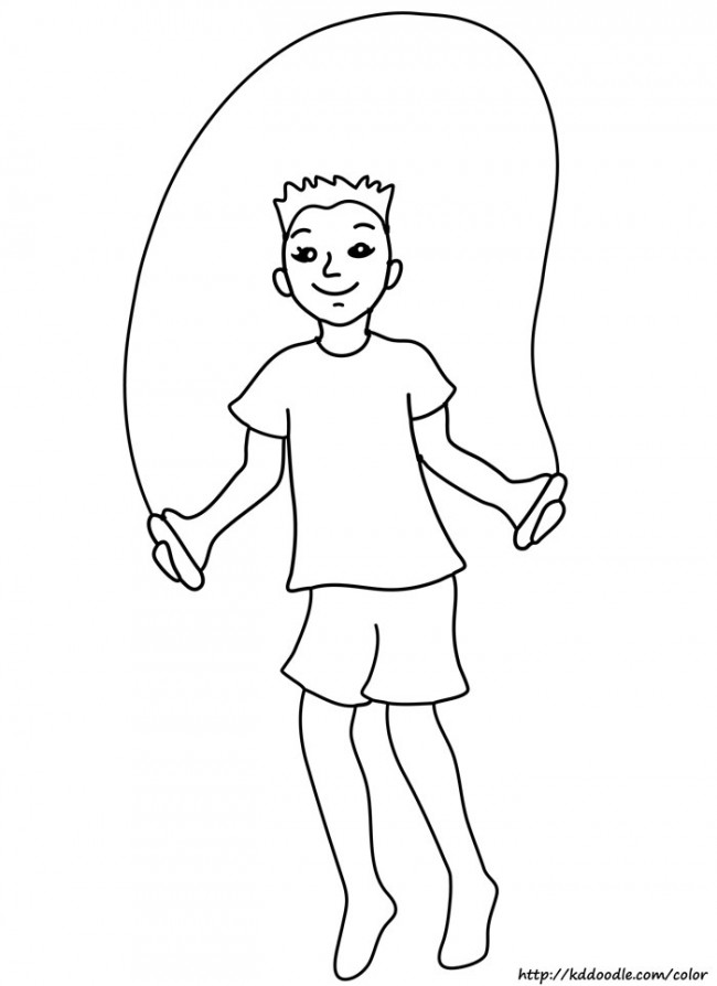 Jump Rope Coloring Pages - AZ Coloring Pages