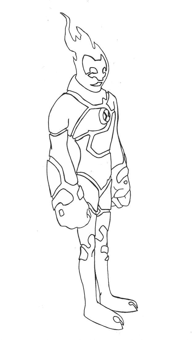 Heatblast Coloring Pages