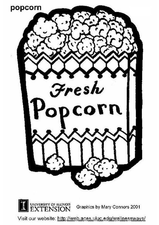popcorn coloring sheet coloring home