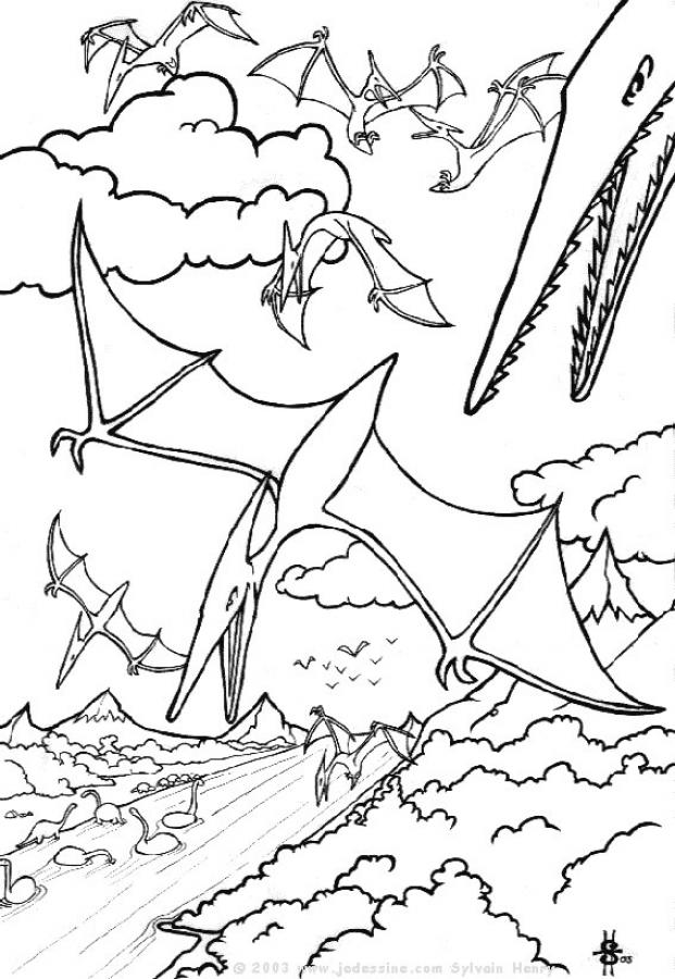 Pterodactyl Coloring Page Coloring Home