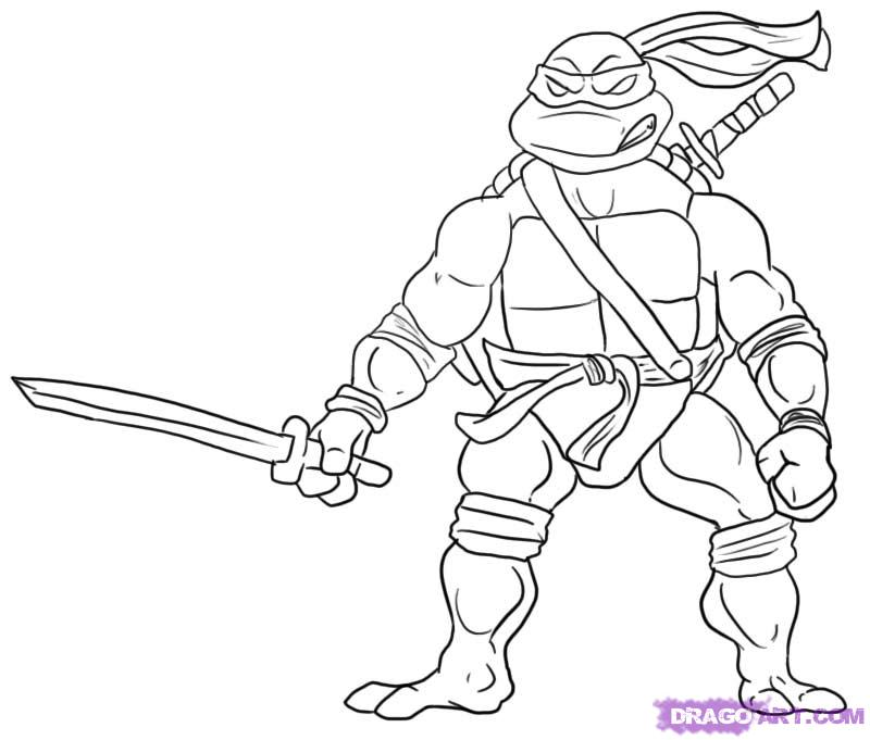 Teenage Mutant Ninja Turtle Printable Coloring Page Coloring Home