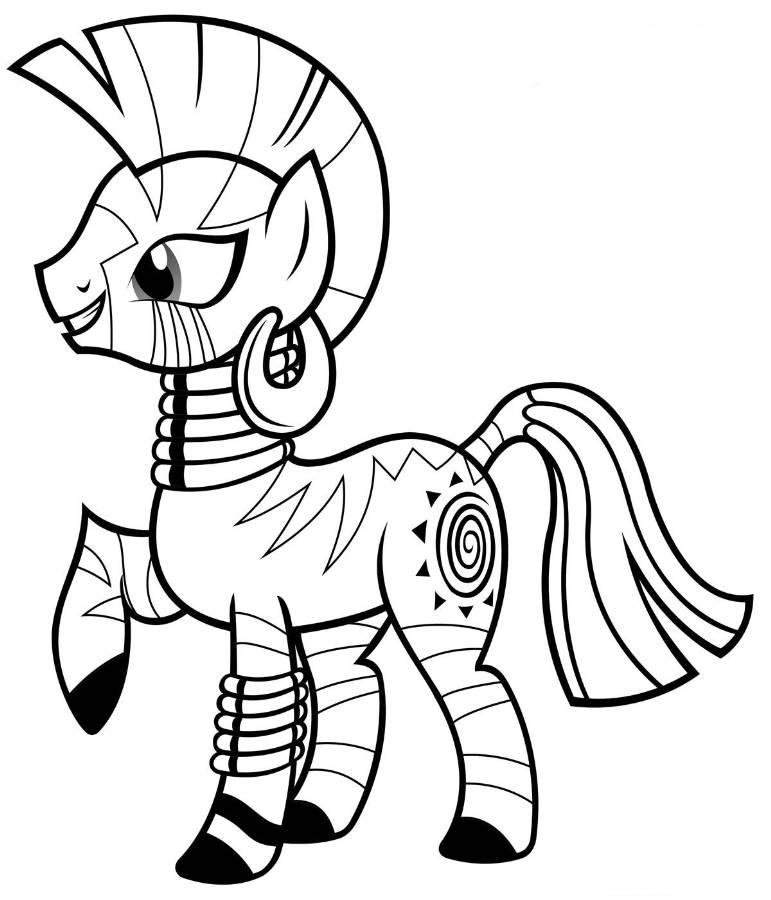 Print My Little Pony Coloring Pages Zecora or Download My Little