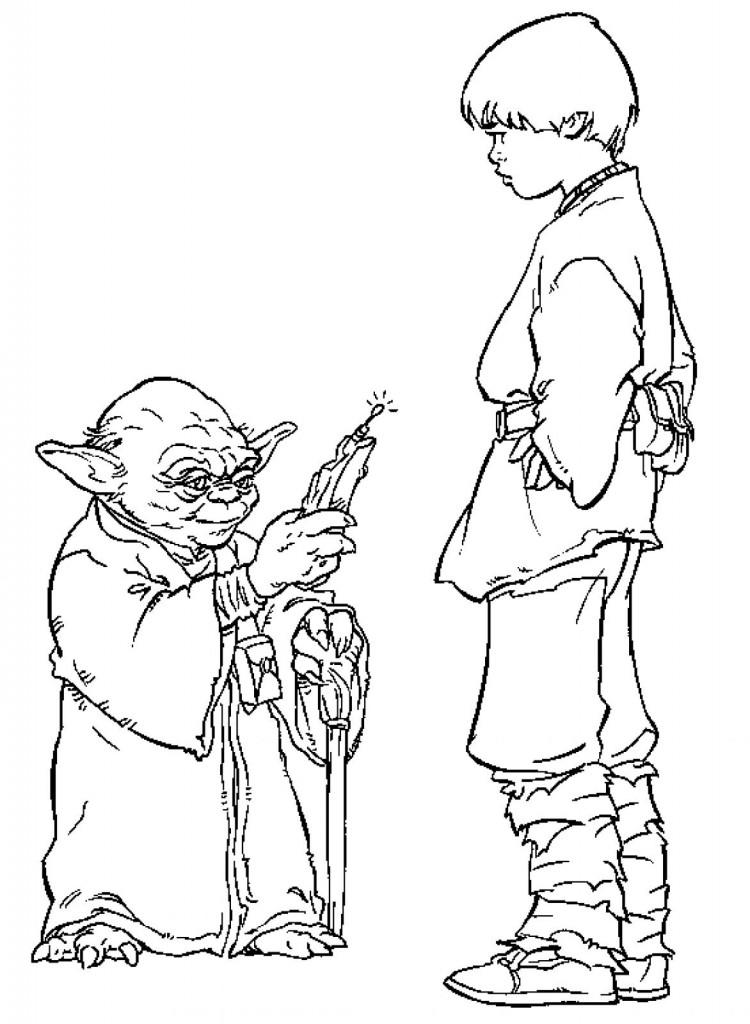 Coloring Pages Yoda : Yoda coloring pages az