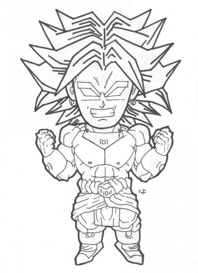 Broly Coloring Pages Coloring