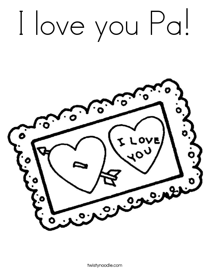 I Love You Coloring Pages Pdf : I love you with flowers my daddy coloring pages