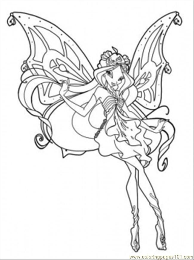 Coloring Pages Queen Bloom Cartoons Winx Club