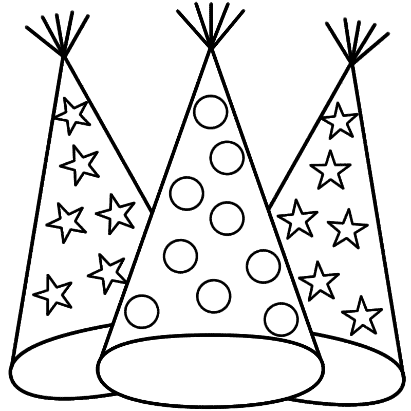 Hats Coloring Pages