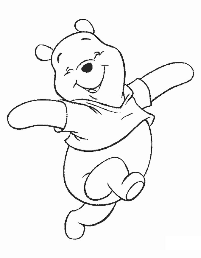 Pooh bear and friends coloring pages az coloring pages for Free pooh bear coloring pages