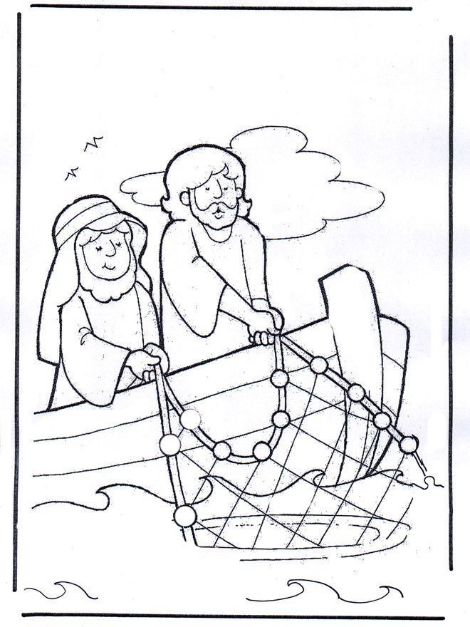 fisher of men coloring pages - photo#15