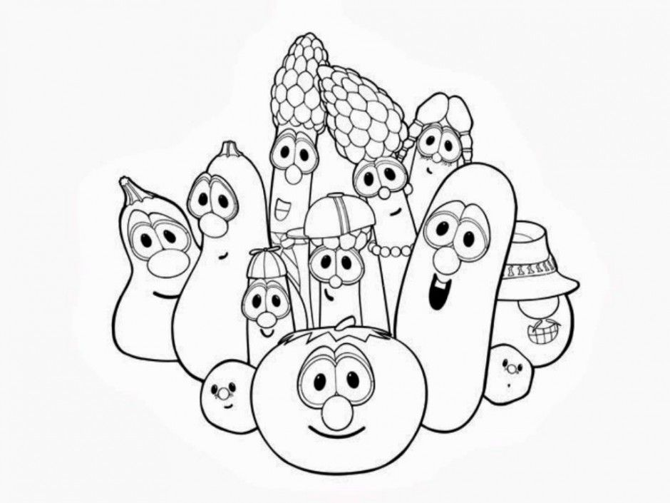 Free Printable Veggie Tales Coloring Pages For Kids They Who