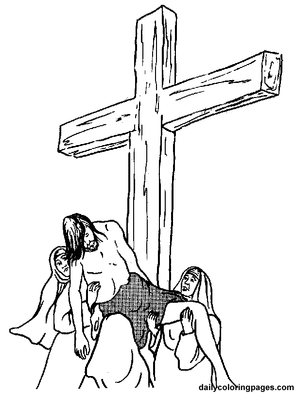Jesus Cross Coloring Pages Free Internet Pictures Coloring Home
