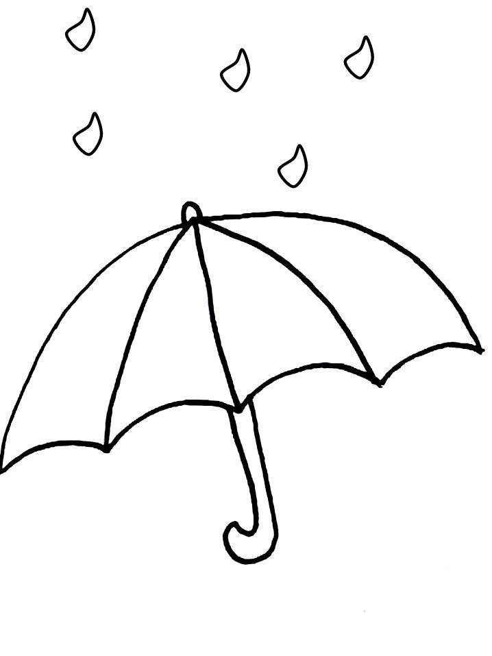 Coloring Page Umbrella Umbrella Coloring Page