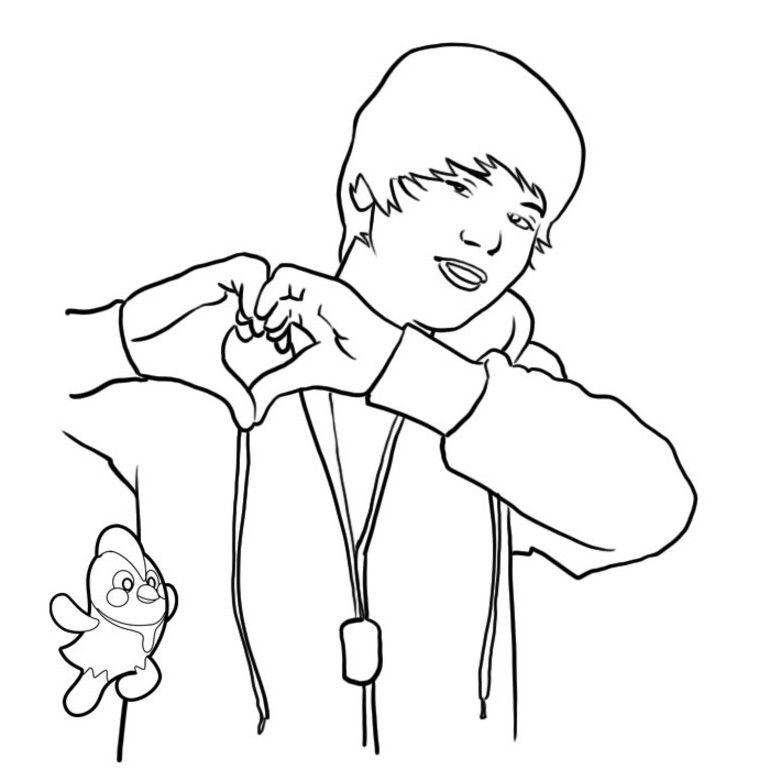 Justin Bieber Coloring Pages Printable