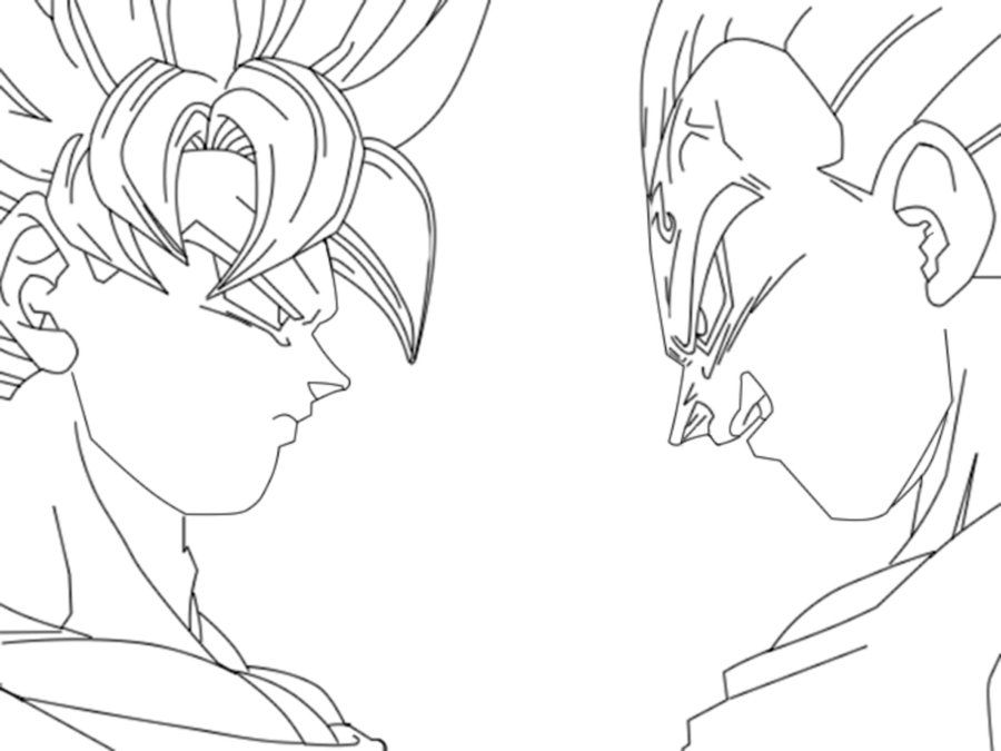 Goku Lineart by DialgaLover99