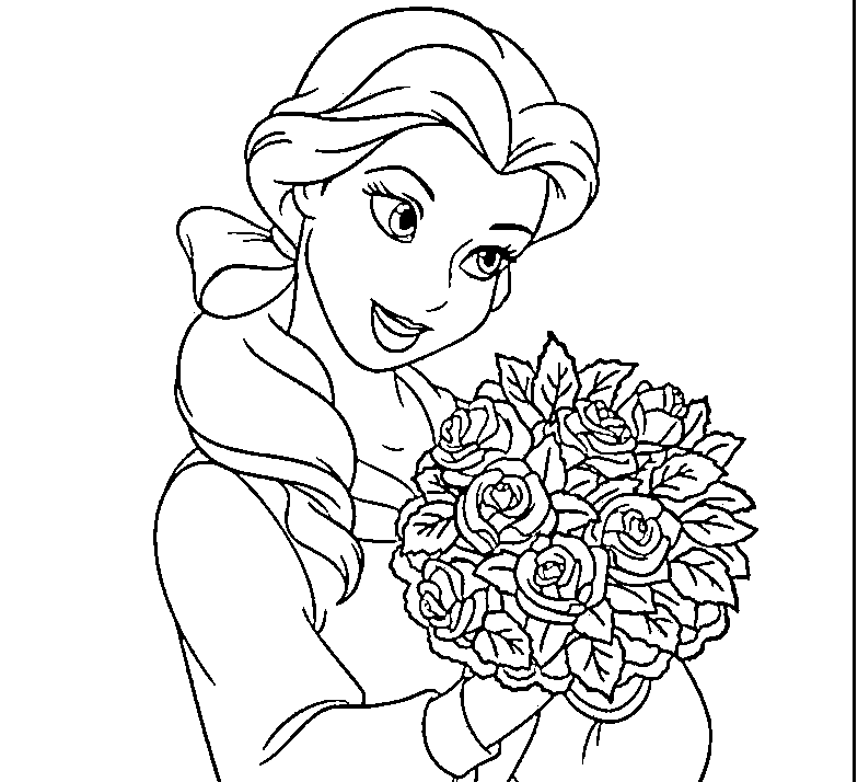 Disney Princess Characters Coloring Pages - Coloring Home | 714x784