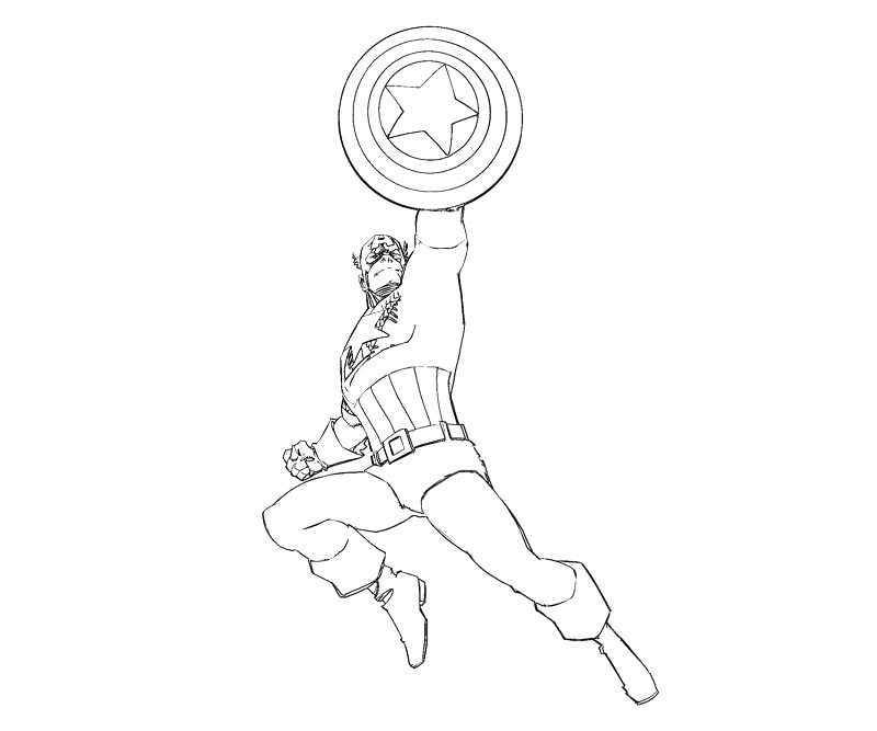 3 captain america coloring page - Captain America Pictures To Color