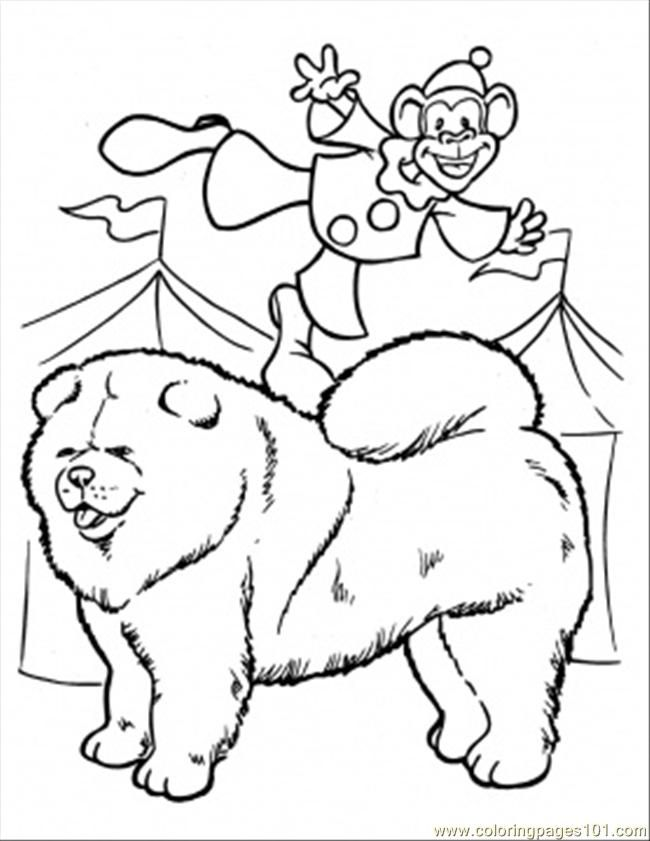 Coloring Pages A Monkey Clown Coloring Page (Mammals > Monkey