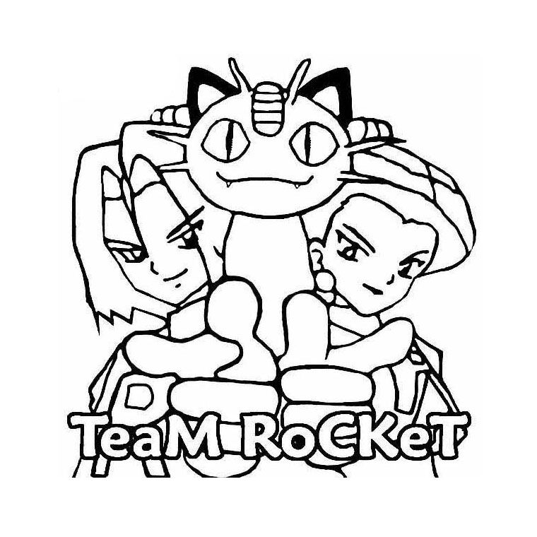 Coloriage Pokemon Team Rocket A Imprimer Gratuit Coloring Home