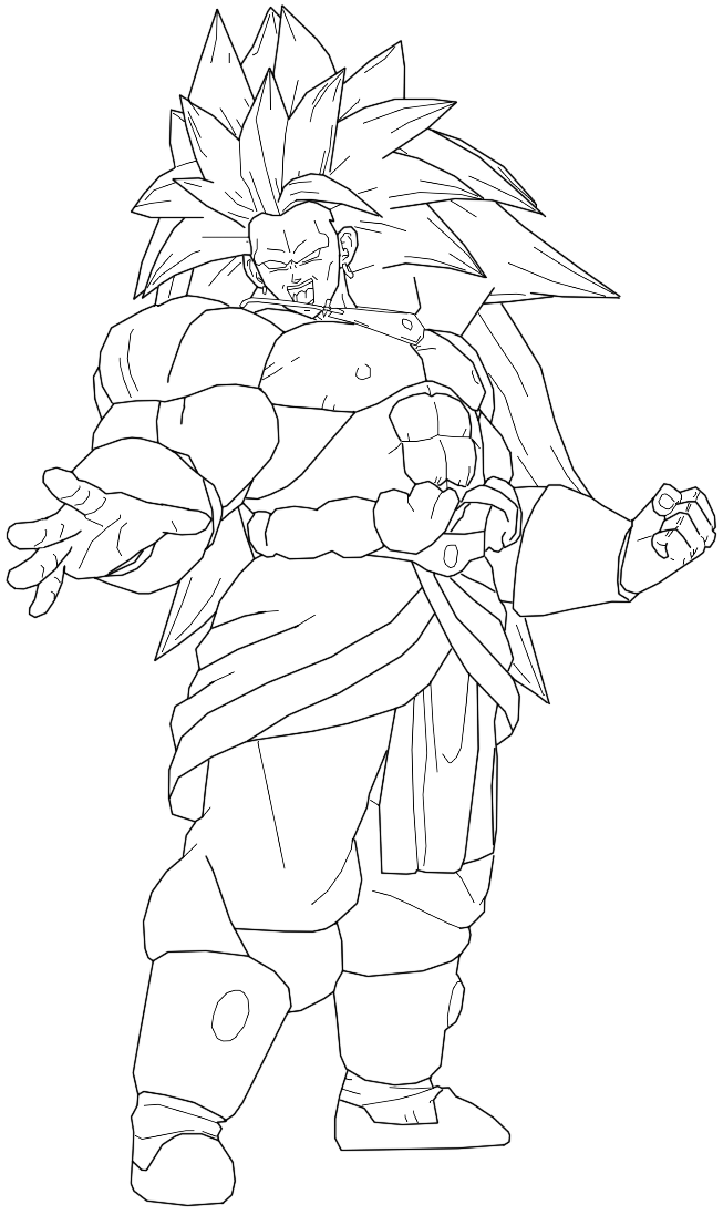 broly coloring pages - photo#32