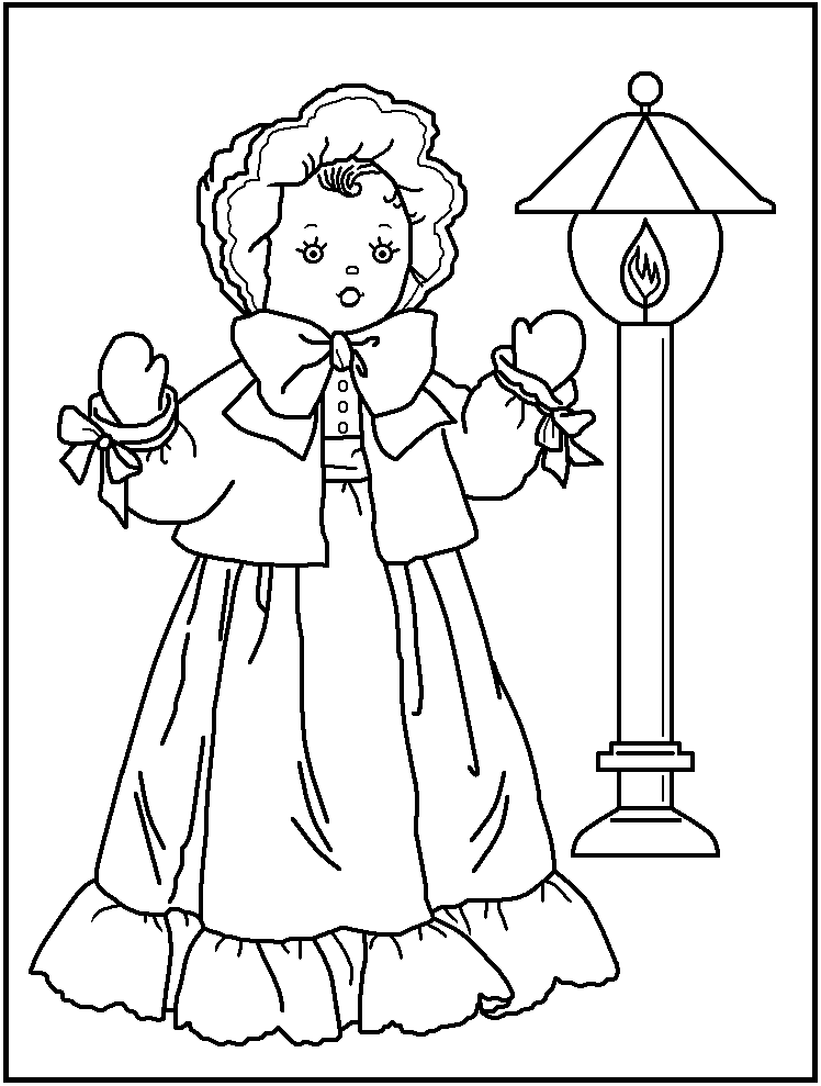 FREE Printable Doll Coloring Pages