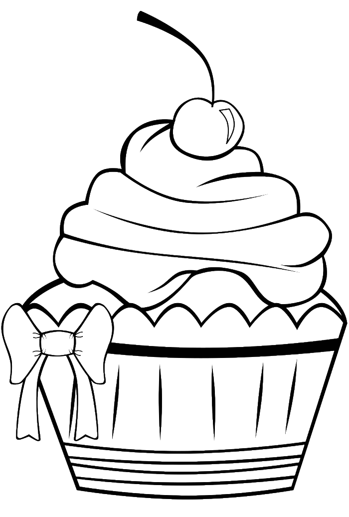 Birthday Cupcake Coloring Page Az Coloring Pages Birthday Cupcake Coloring Page