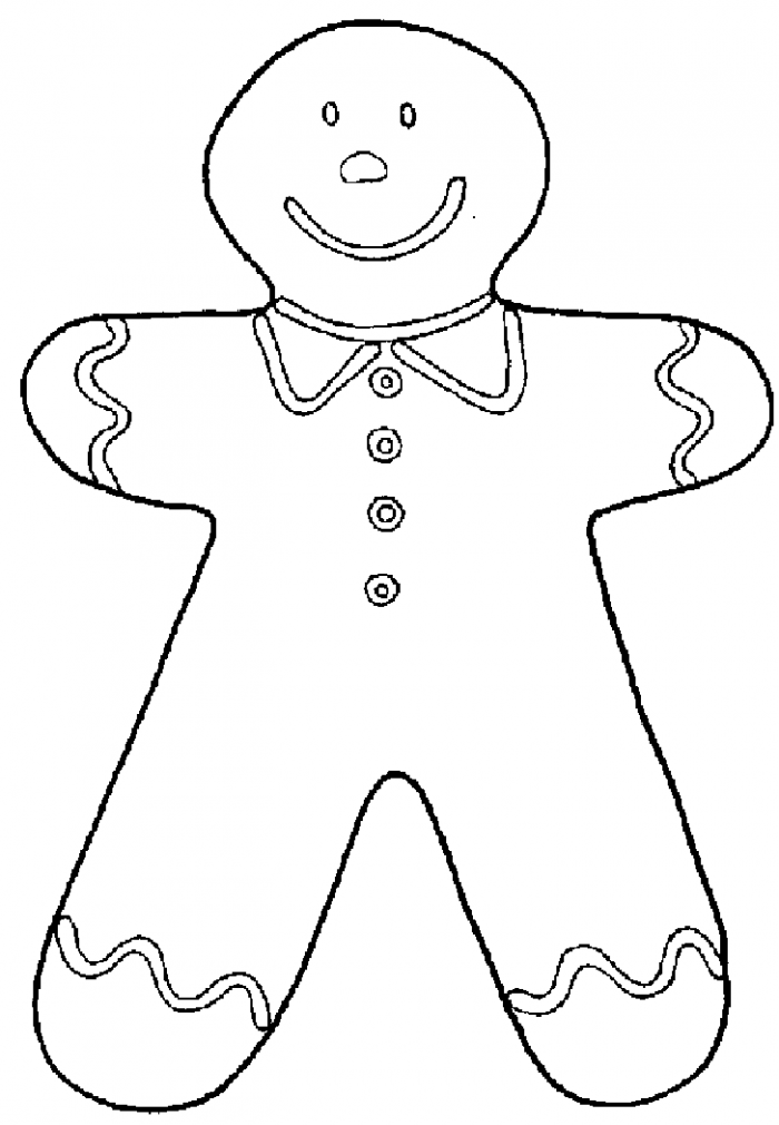 Gingerbread Man Coloring Pages For Kids