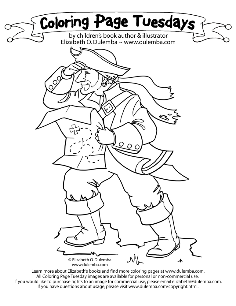 dulemba: Coloring Page Tuesday! - Pirate 2010