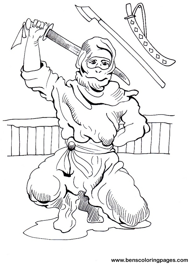free coloring pages ninjas - photo#25