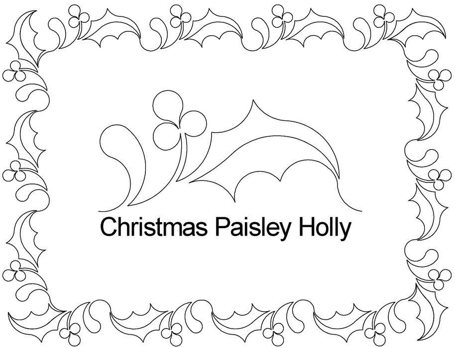 christmas holly border coloring pages - photo#1