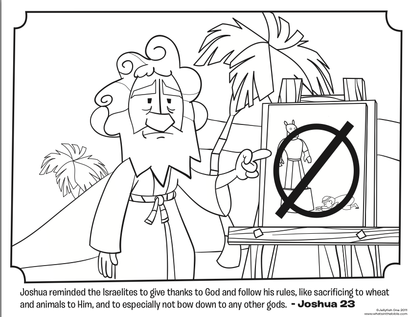 Coloring Pages For Joshua : Joshua and jericho coloring pages az
