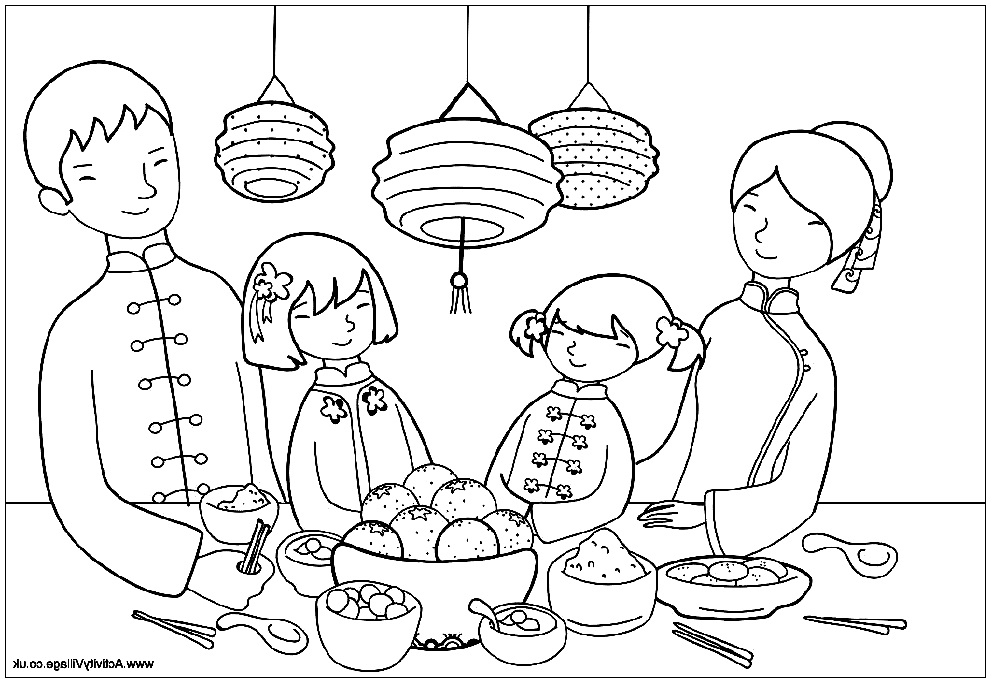 moon festival coloring pages - photo#7