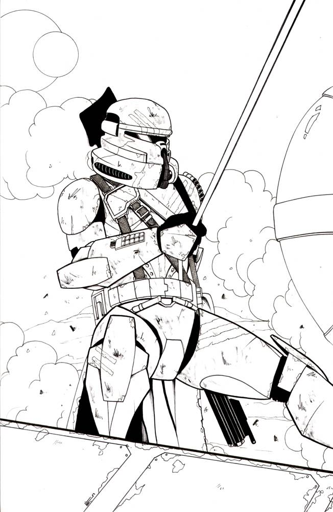 Arc clone trooper coloring pages coloring pages for Clone trooper coloring pages