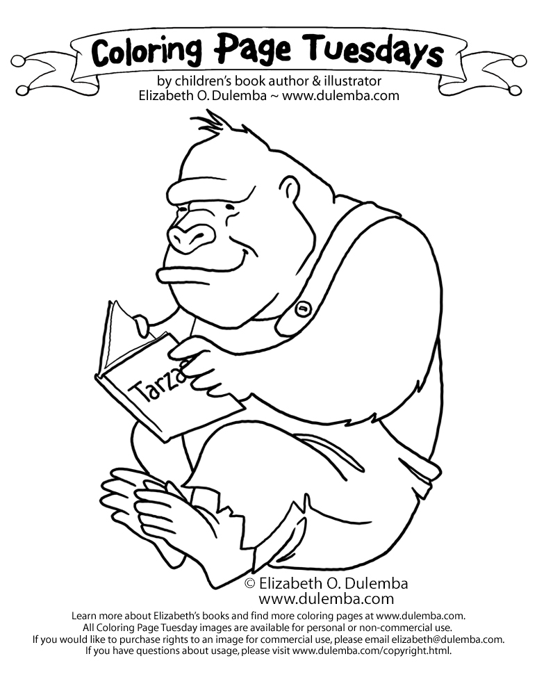 dulemba: Coloring Page Tuesday - Gorilla
