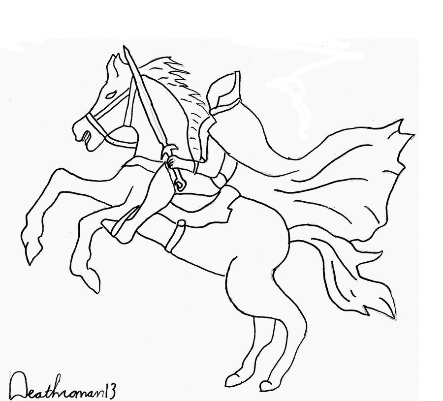 Headless Horseman Coloring Pages halloween headless horseman