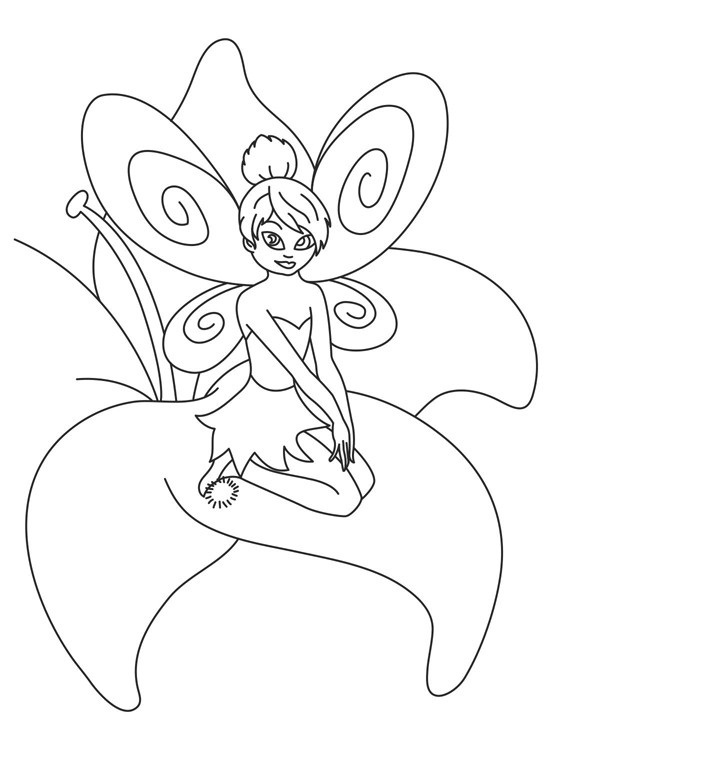 tinkerbell and friend coloring pages - photo#34
