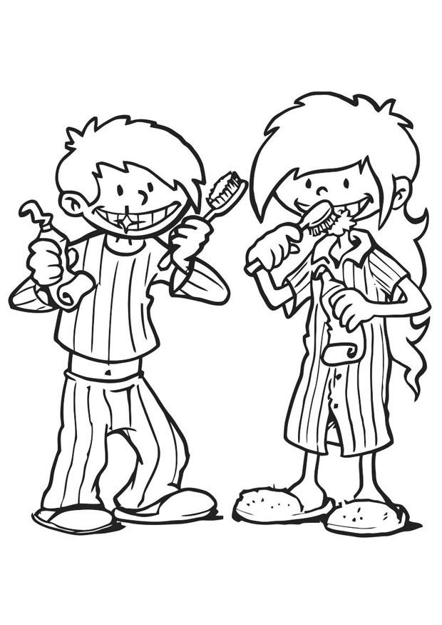toothbrushing coloring pages - photo#28