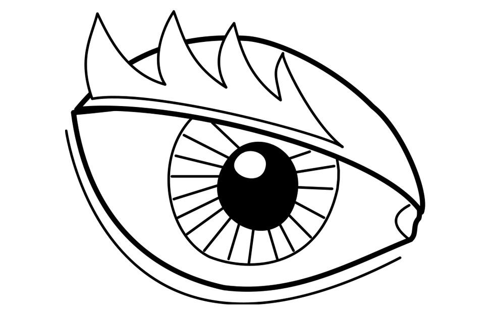 Coloring Page Eye Img 22719 Coloring Home Eyeball Coloring Page