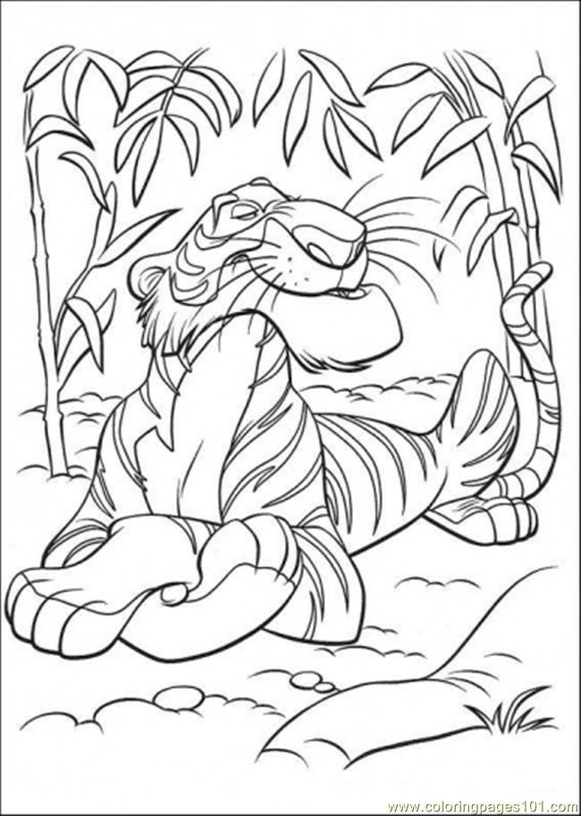 Coloring Pages Shere Khan (Cartoons > The Jungle Book) - free