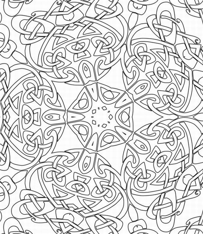 hard coloring pages for free - photo#12