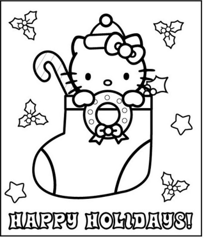 Hello Kitty Merry Christmas Coloring Pages : Christmas hello kitty coloring pages home