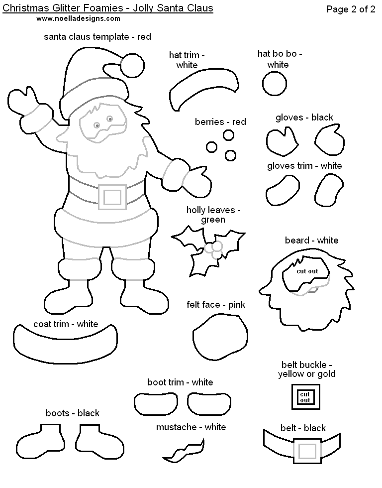 Ringa Bir on santa claus printable cutouts
