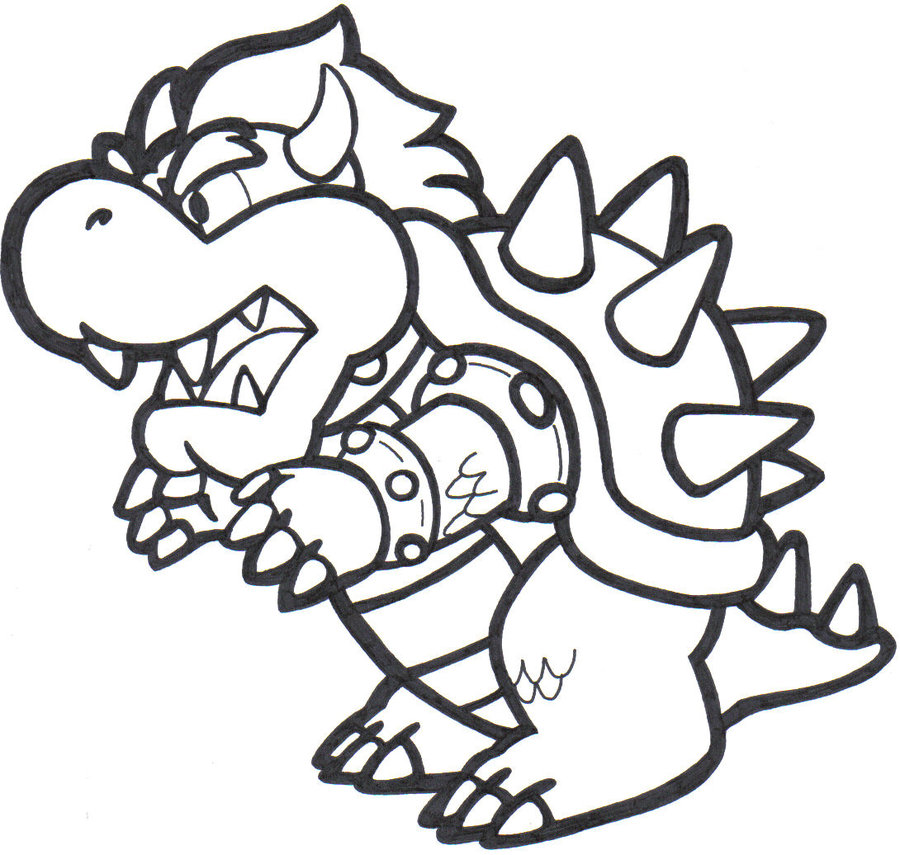 Bowser Coloring Pages To Print on halloween clip art