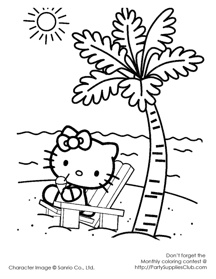 Palm Tree Coloring Page Az Coloring Pages Hello Tree Coloring Page