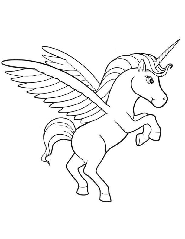Unicorn pegasus coloring pages coloring home for Coloring pages of pegasus