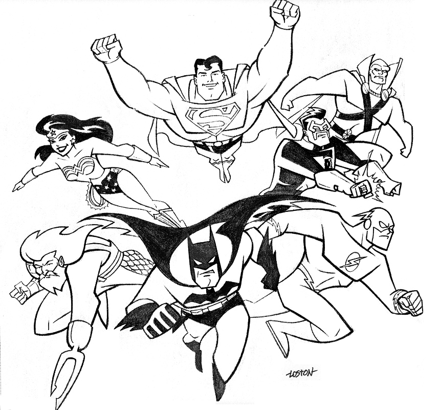 dc super friends coloring pages