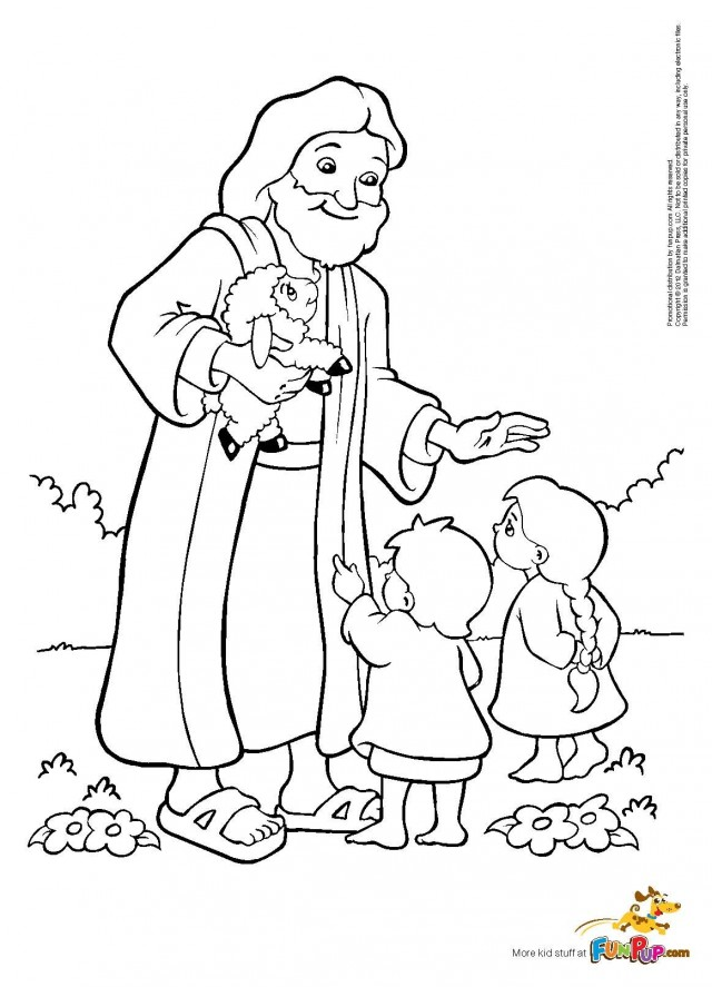 Jesus Loves The Little Children Coloring Page Az Jesus And Children Coloring Page