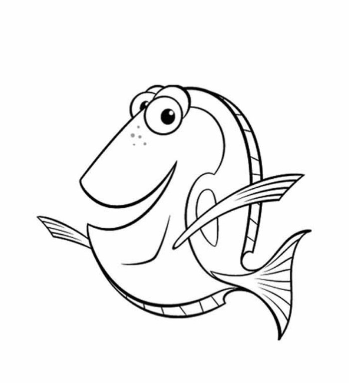 Finding Nemo Coloring Pages To Print on Creativity Worksheets Kindergarten