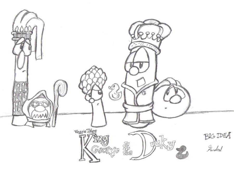 Veggie Tales Coloring Pages King George